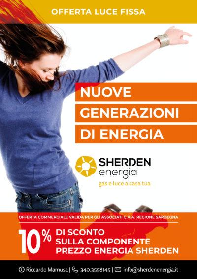 OFFERTA LUCE FISSA SCONTO 10% – SHERDEN ENERGIA